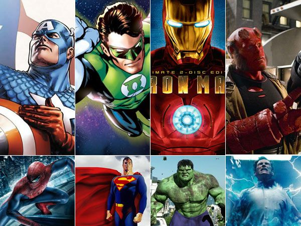 Pantone Colors of Famous Super Heroes