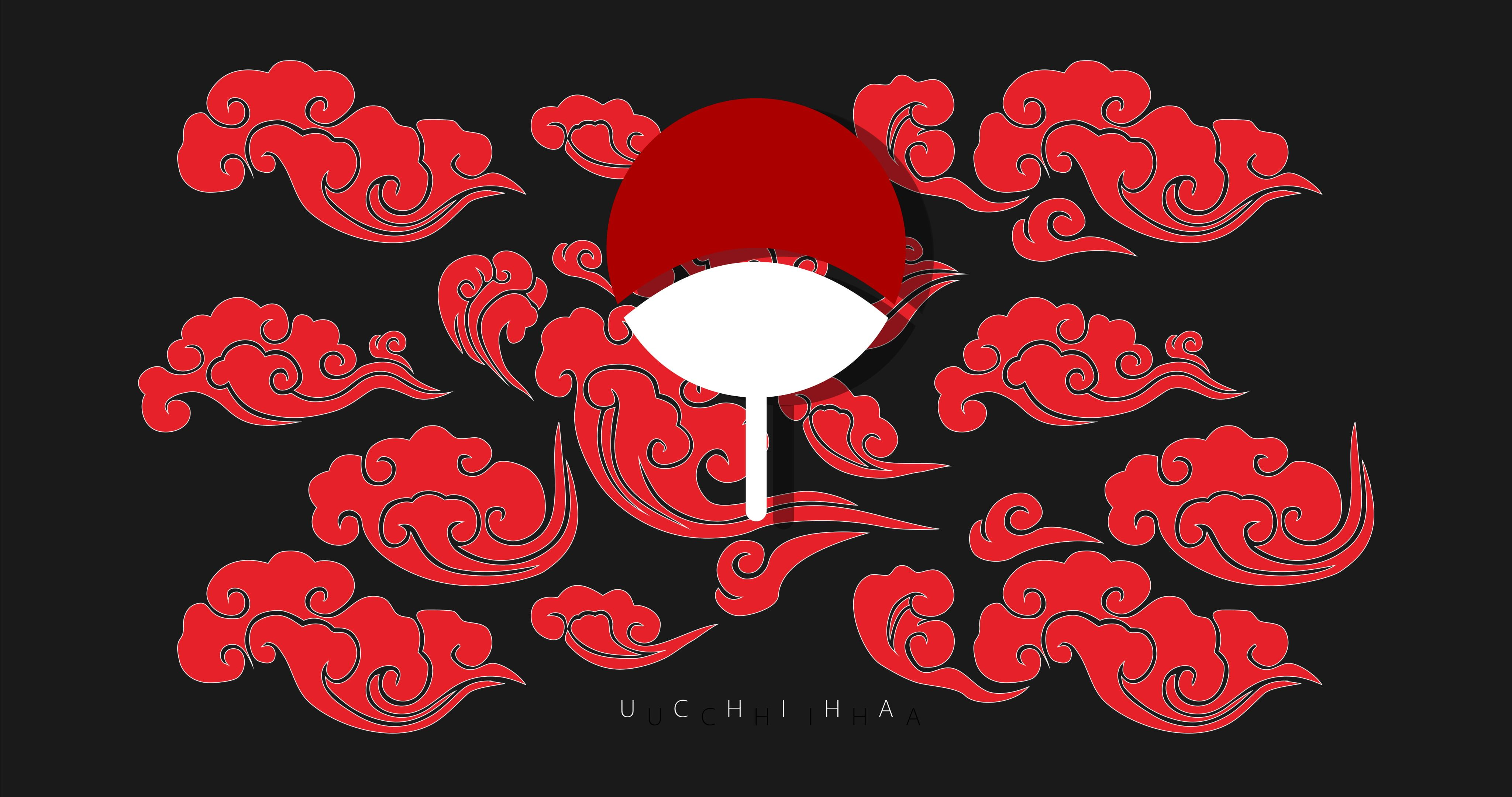 Uchiha Clan Naruto Anime Crest Clouds Anime 4k Wallpaper Hdwallpaper Desktop Cool Anime Wallpapers Anime Backgrounds Wallpapers Anime Wallpaper