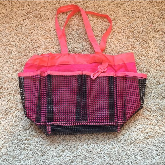 Shower Caddy Pink shower caddy. Many pockets. Waterproof. Minor ...