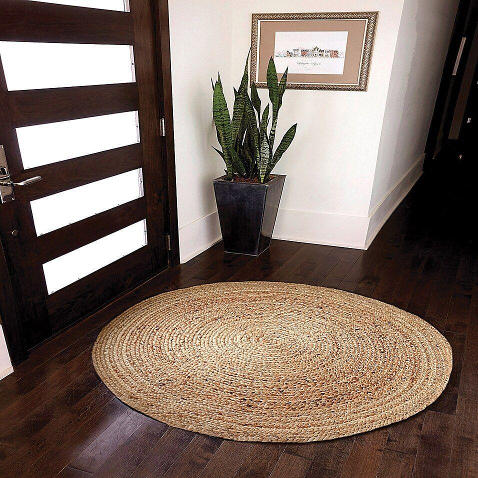 4 Round Kerala Natural Jute Rug Bed Bath Beyond Natural Jute Rug Rugs On Carpet Braided Rag Rugs