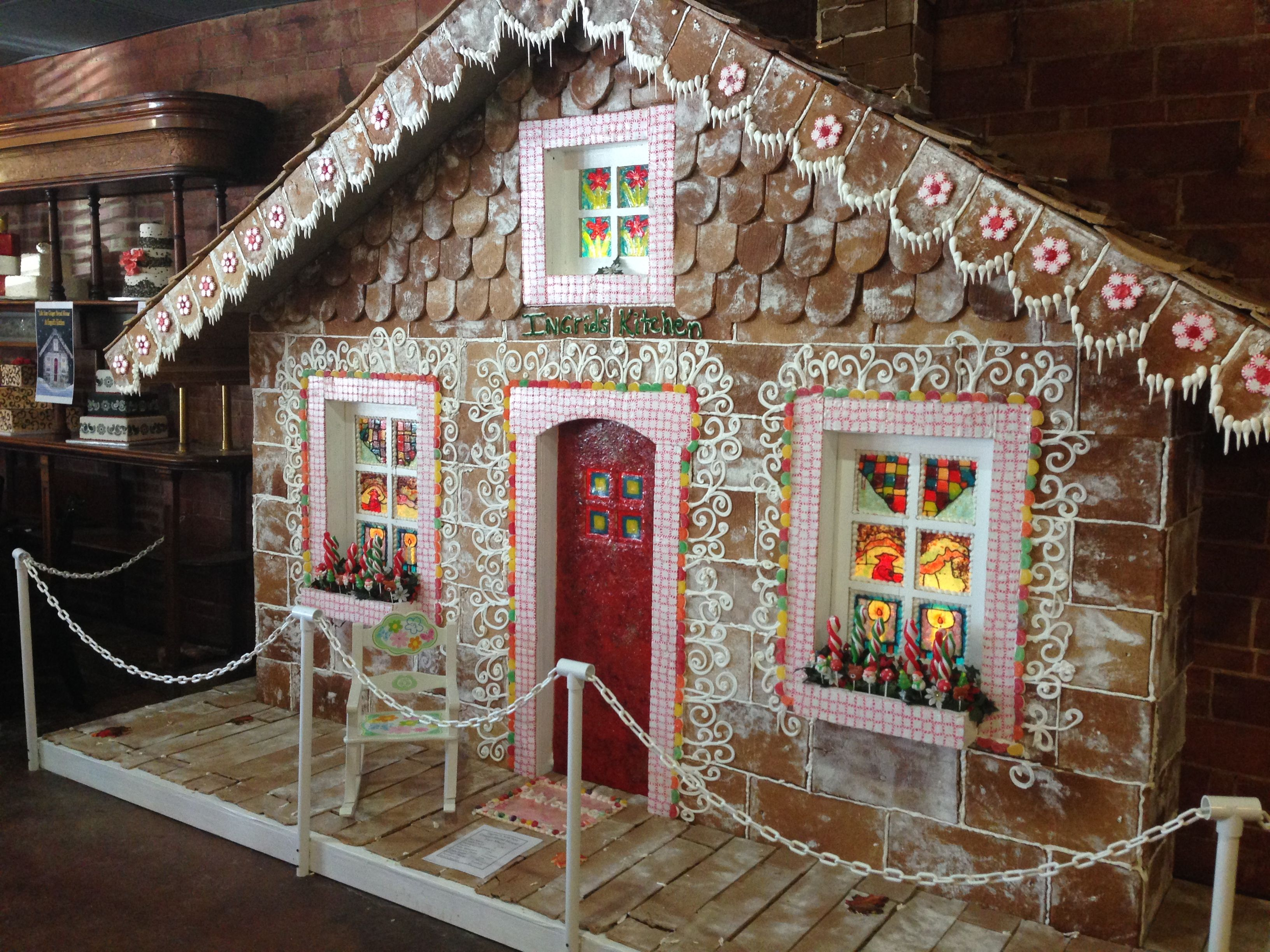 Life Size Gingerbread House Google Search Cardboard Gingerbread House Gingerbread House Props Christmas Gingerbread House