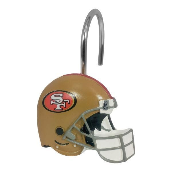 San Francisco 49ers Nfl Shower Curtain Rings 12 Rings Per Box