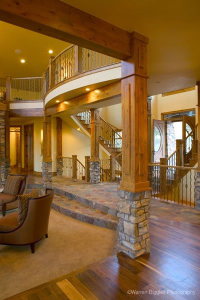 House Plans Home Plan Details Luxury Living I Like That You Step Down Into The Room