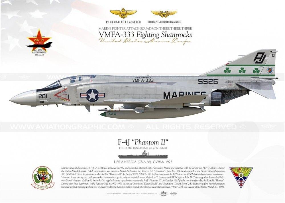 "F-4J ""Phantom II"" 201 VMFA-333 MB-63"