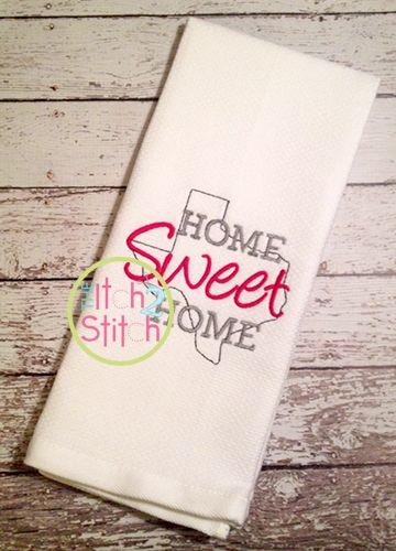 i2s home sweet home texas embroidery design home sweet home rh pinterest com