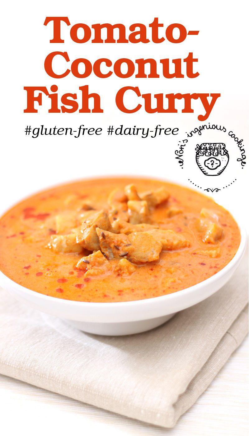Tomato-coconut fish curry