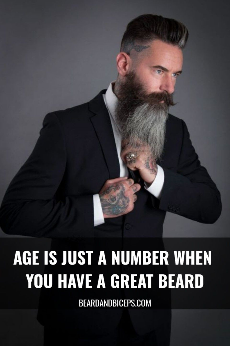 Age Is Just A Number When You Have A Great Beard Awesome Beard Quote By Beardandbiceps Com Beard Love Beard Styles Beard Quotes Great Beards Awesome Beards