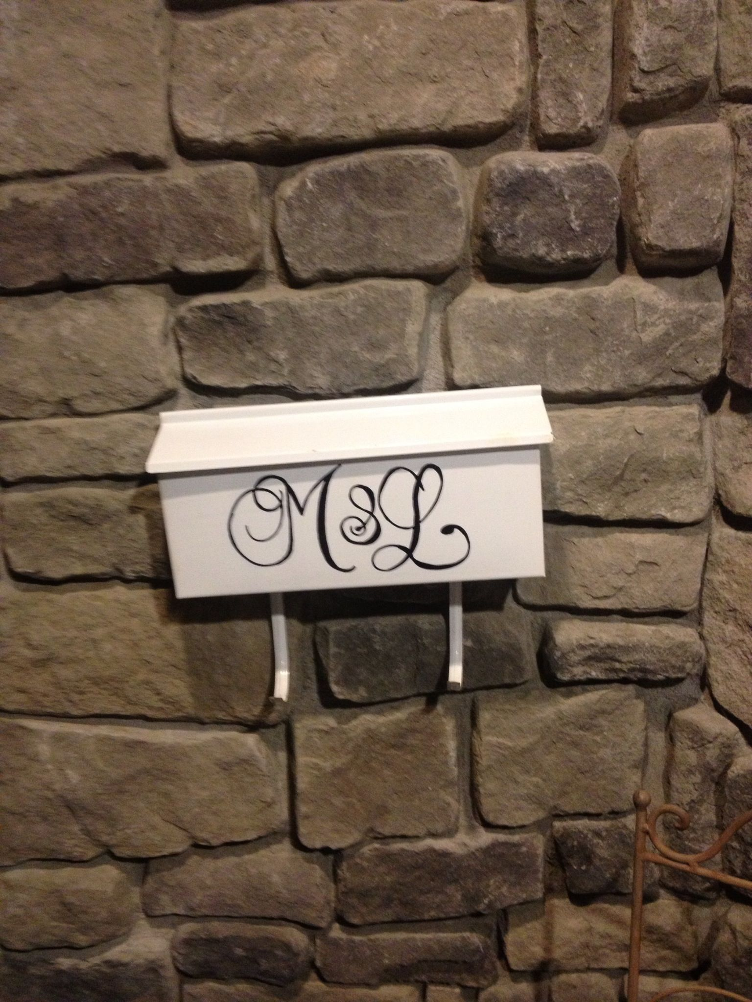 DIY personalized monogram mailbox. Husband and wife first