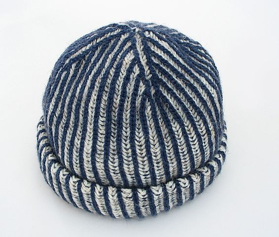 Two Color Brioche Hat Muts Pinterest Knitting Knitting