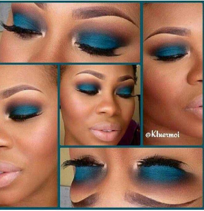 Image result for blue eyeshadow looks for dark skin women ...