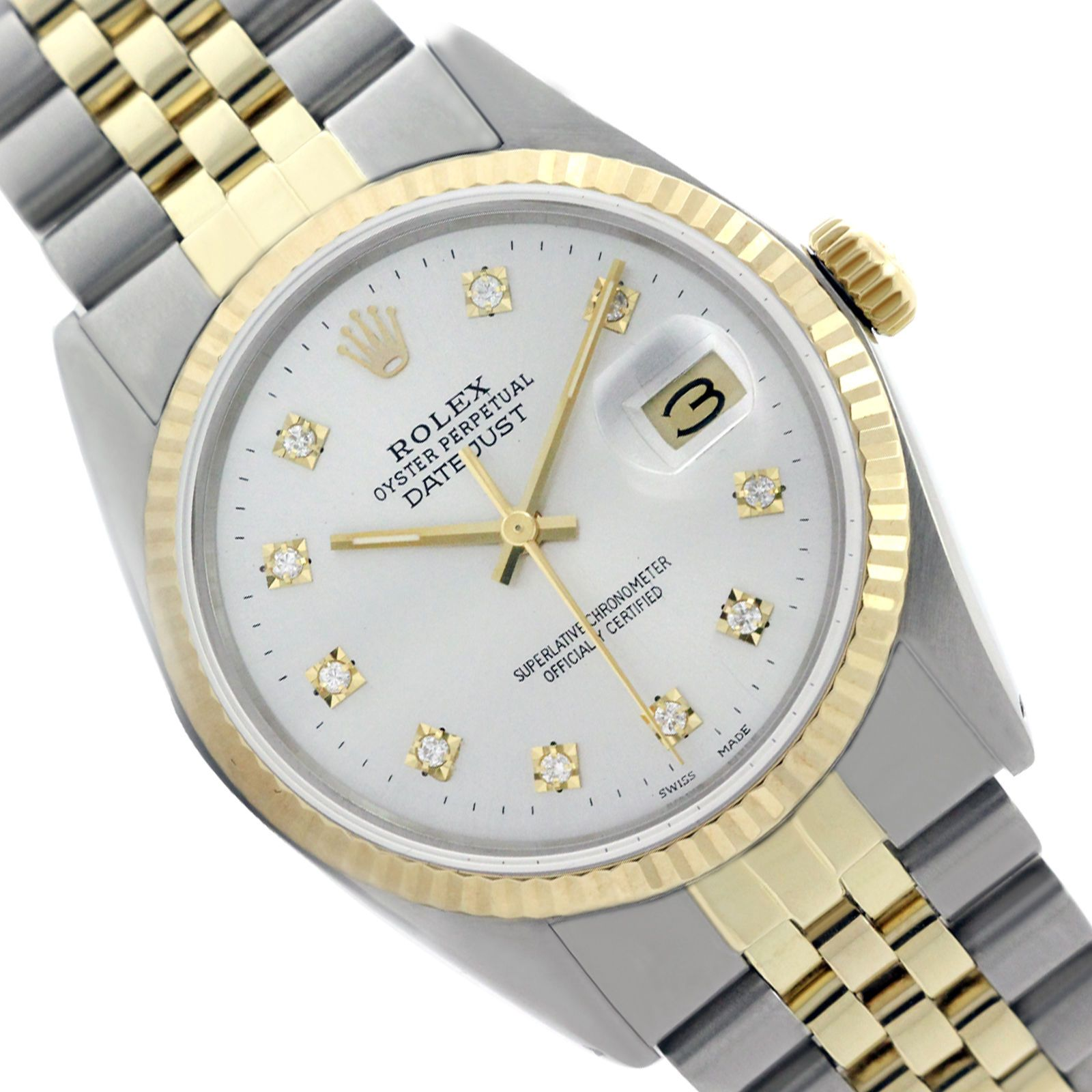 Preowned Fresh Vintage Rolex 36mm Watch 16013 Datejust Fluted Bezel 16013 White  https://t.co/yt5sng7AO2 https://t.co/d9fifwYnE0