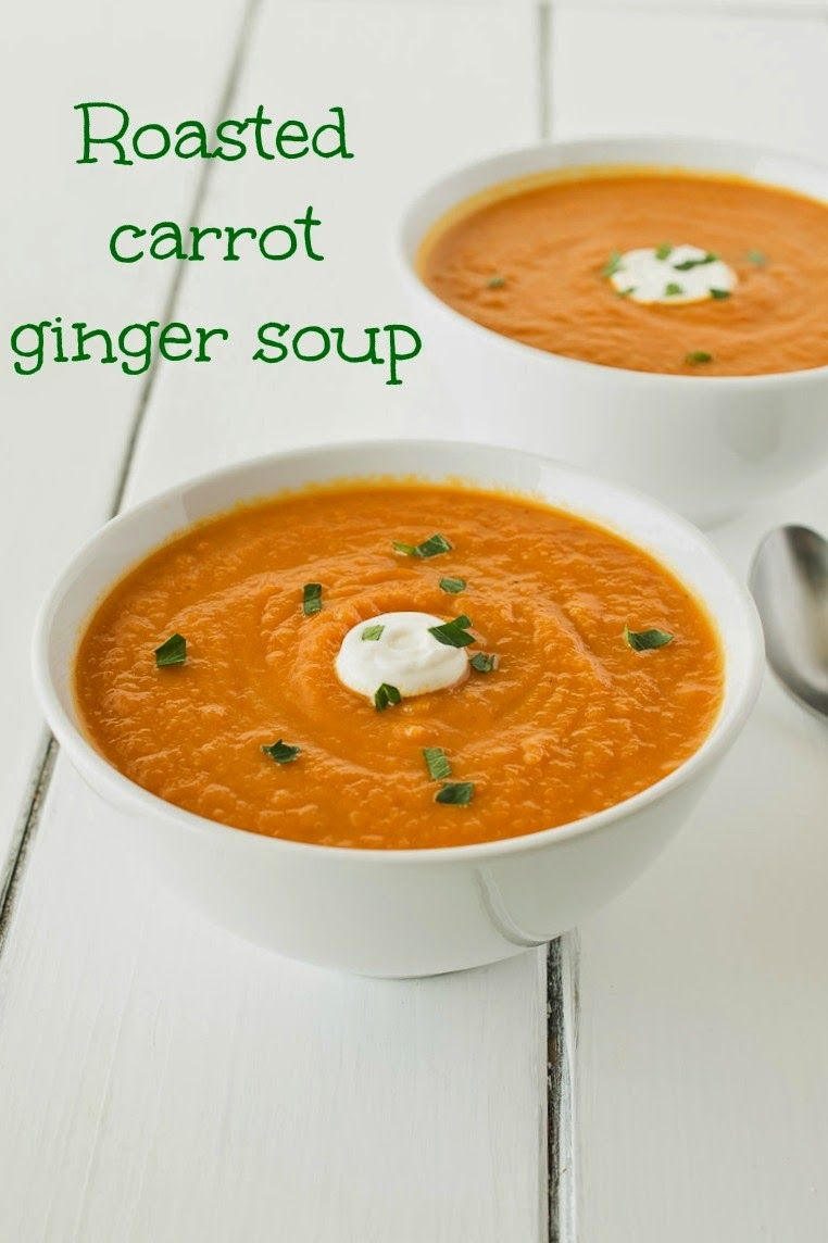 Carrots, onions and garlic are roasted, then cooked with fresh ginger for a healthy, delicious and detoxing soup.