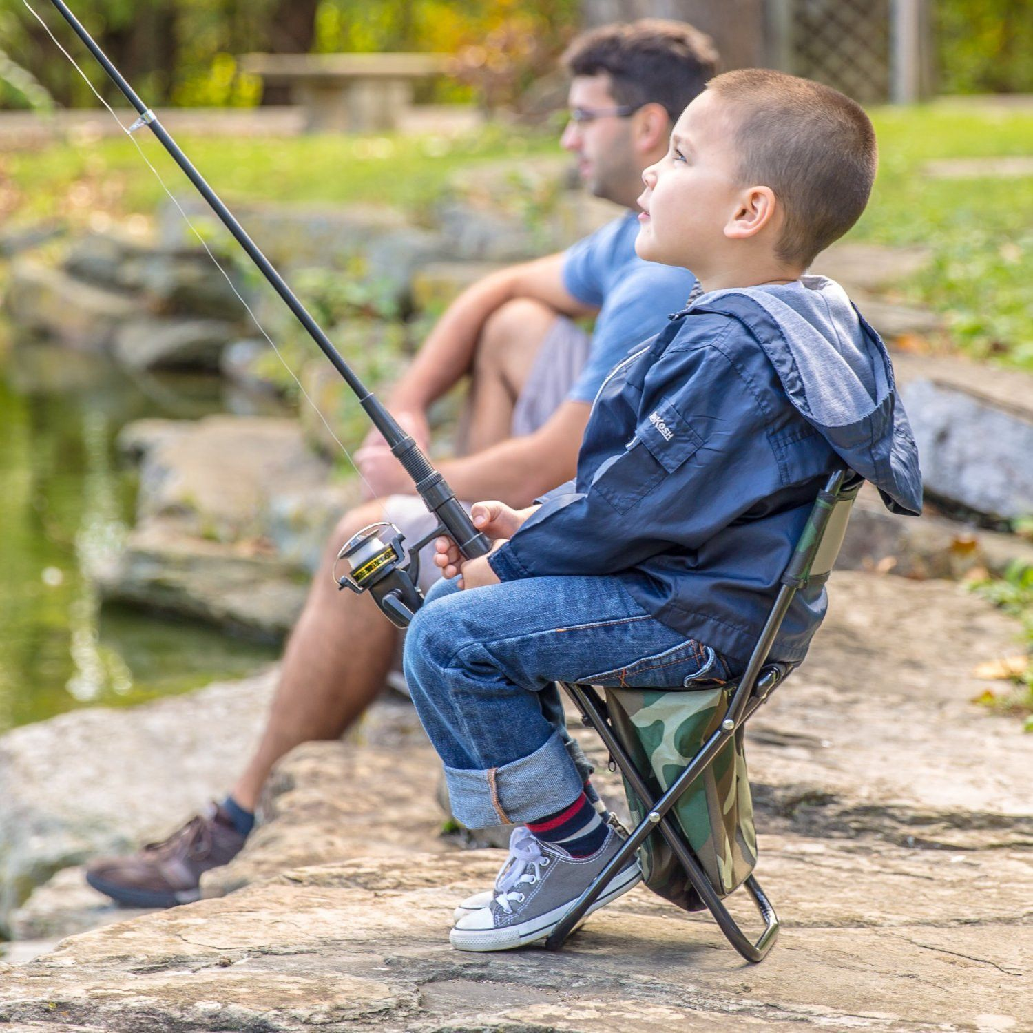 Fishing gear plus new and improved for kids telescoping