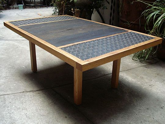 Diamond Plate Steel Coffee Table   Google Search