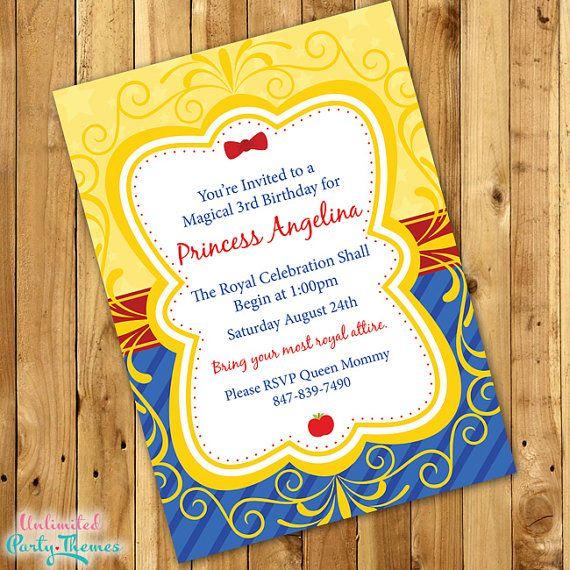 7 snow white invitations ideas snow