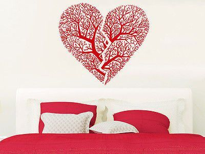 Heart Wall Decal Print Heart Love Wall Decals Vinyl Sticker Home - Printing vinyl decals at home