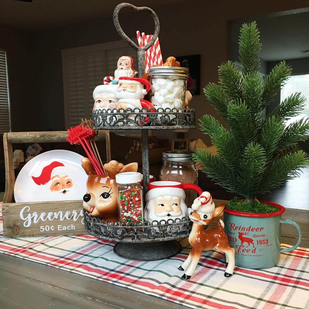 Christmas Hot Cocoa Tiered Tray (With Images)