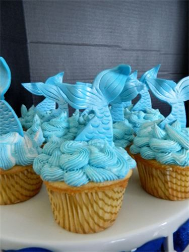 Mermaid Tails Cupcakes