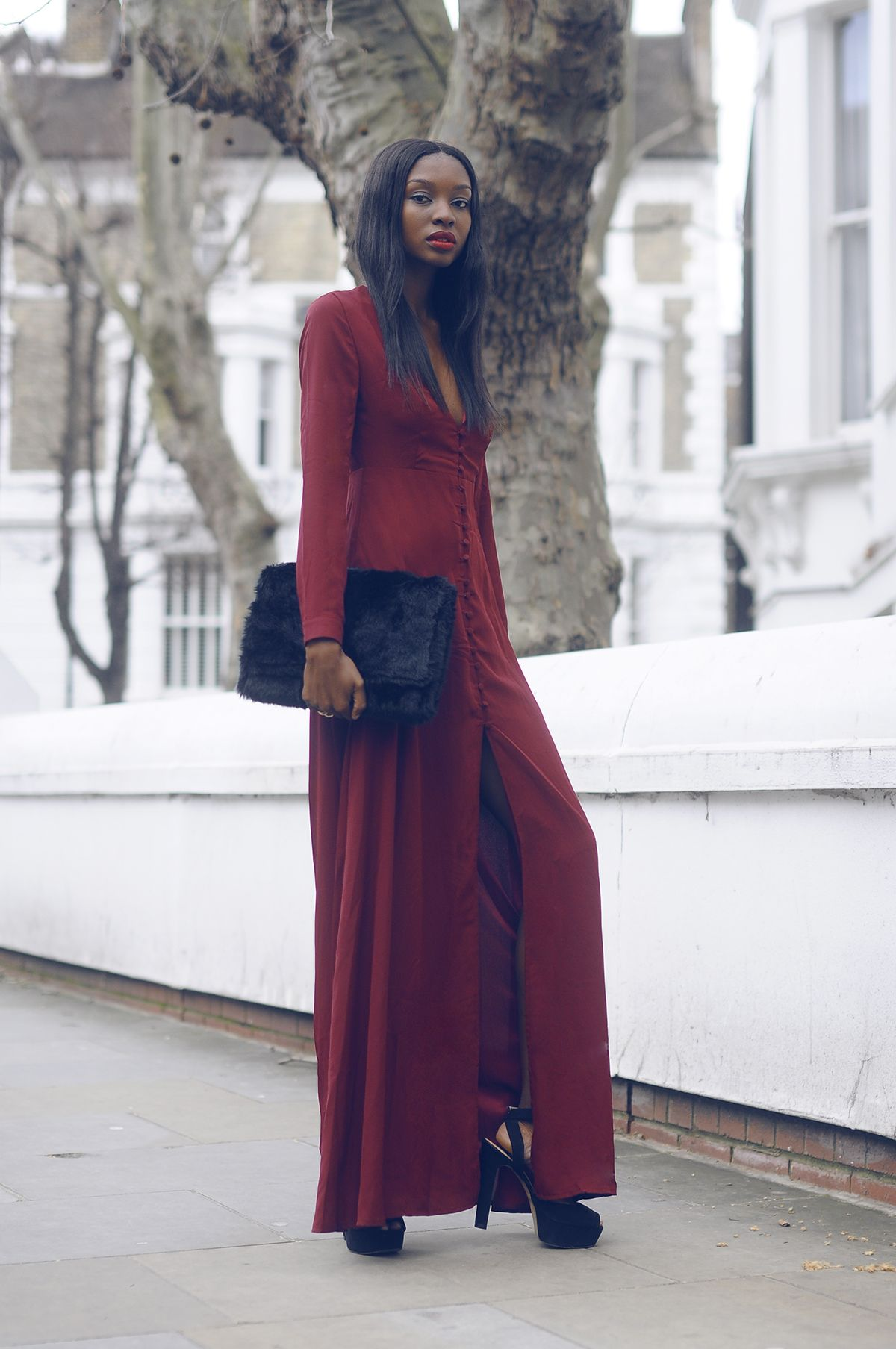 Missguided dress & bag. Zara heels.