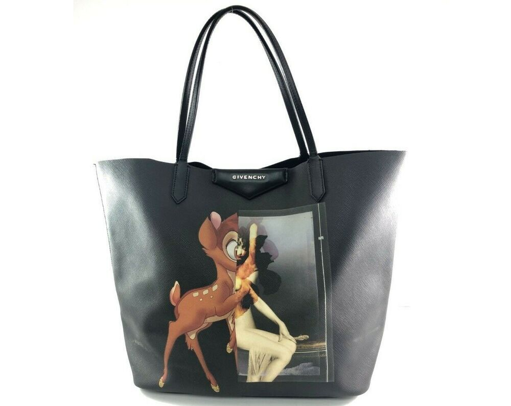 4fab918658 Givenchy Italy Antigona Bambi printed logo coated canvas Bag Medium  Authentic
