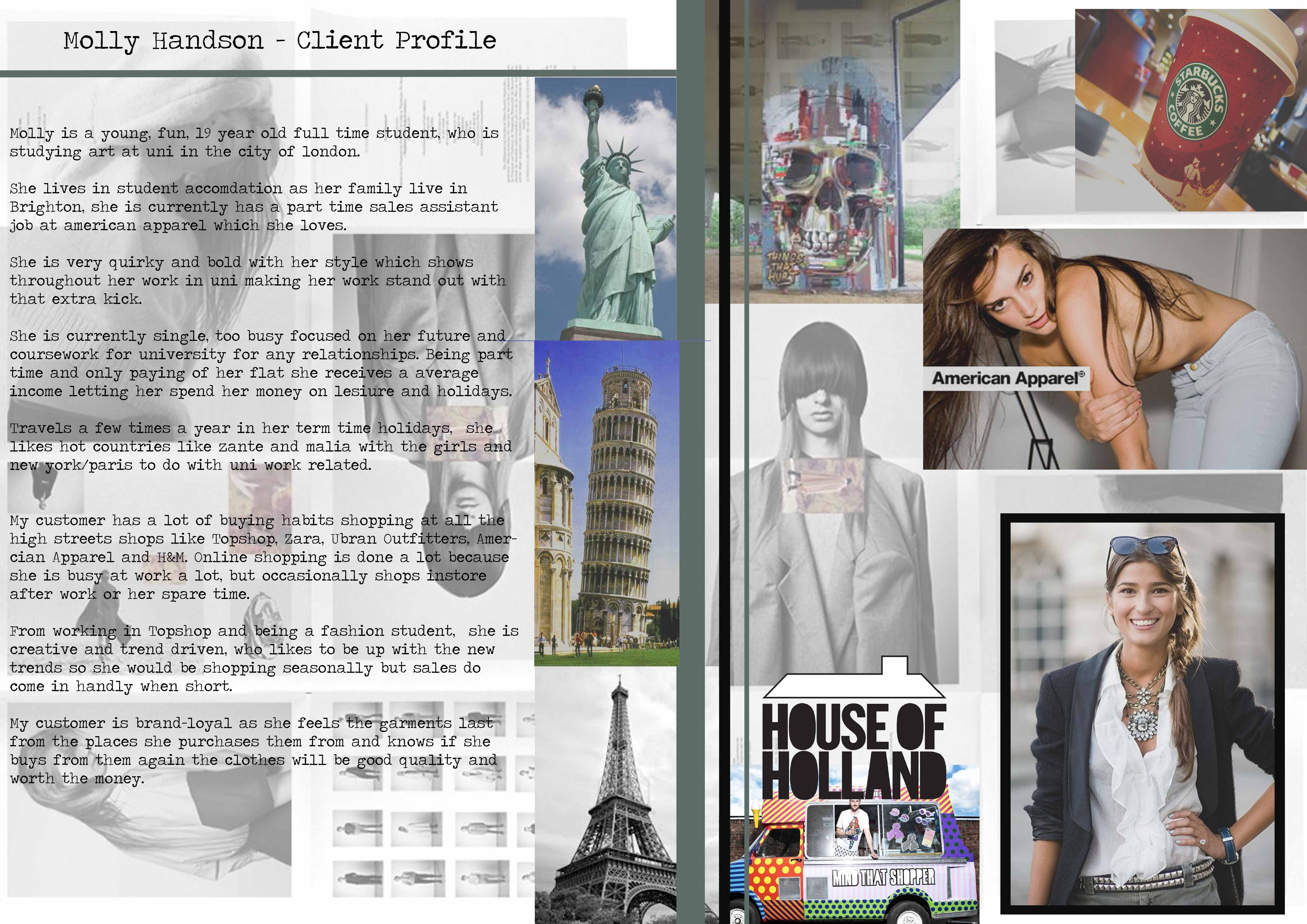 My Customer Profile Board For Inside Out Fashion Design Portfolio Client Profile Sketchbook Layout