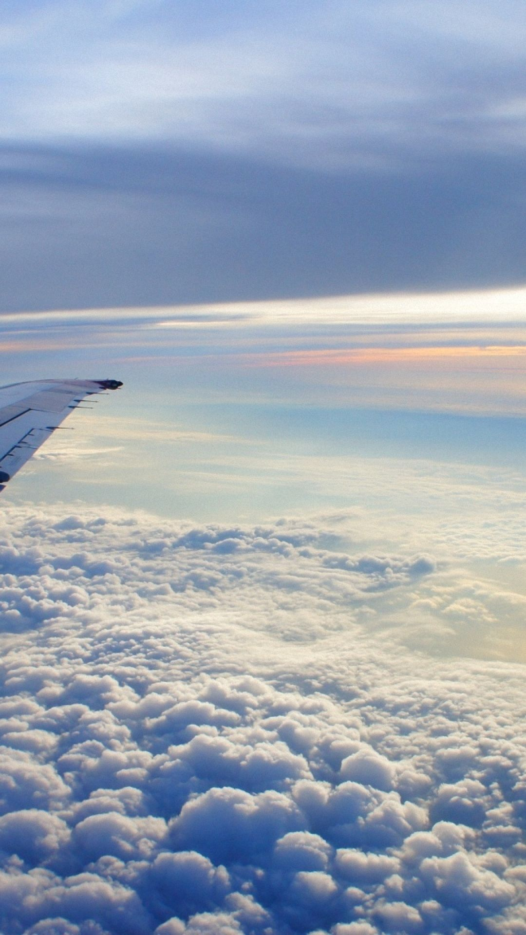 Wallpaper IPhone Clouds Airplane Wing Flying