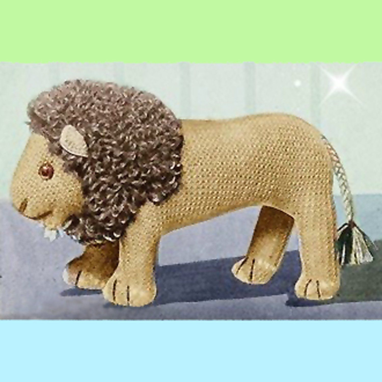 1940s Knitted Lion Pattern | Pattern, Vintage knitting ...