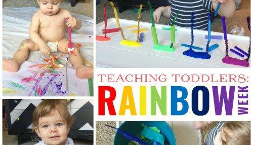 Teaching Toddlers: Rainbow Week (for Kiddos 15+ Months)