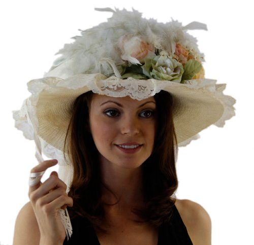 awesome Lovely Seafoam and Ivory Victorian Touring Hat