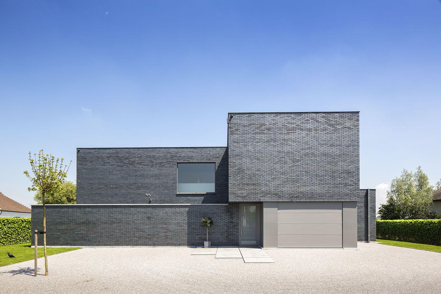 Gelijmde gevelsteen gevels pinterest modern huizen for Huizen stijlen