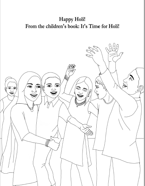 Download Happy Holi Coloring Page Here To Enter: Send a picture of ...