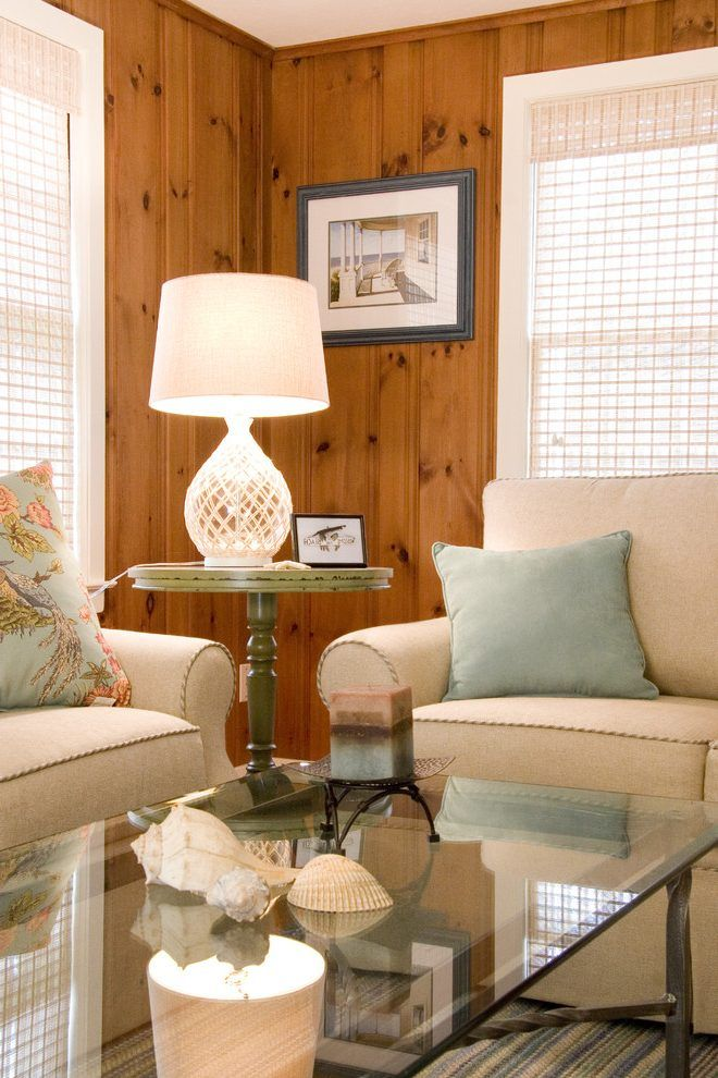 painting knotty pine living room traditional with pine