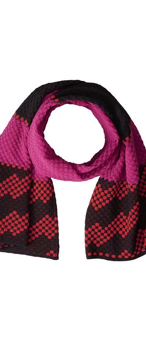 M Missoni Dot Stripe Scarf (Fuchsia) Scarves - M Missoni, Dot Stripe Scarf, MD3KL00Z2E5-466, Accessories Scarves General, Scarves, Scarves, Accessories, Gift, - Street Fashion And Style Ideas