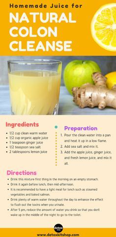 natural colon detox recipes
