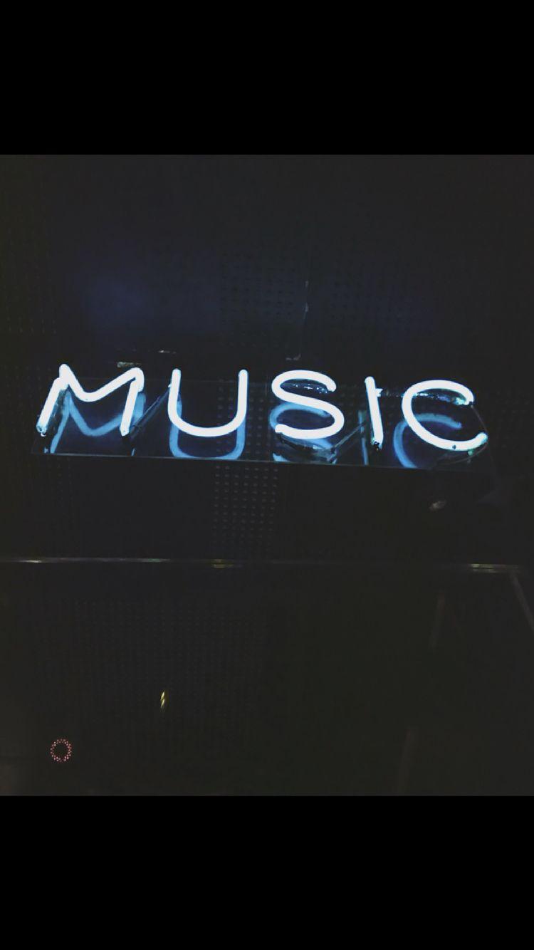 Music On World Off Neon Words Neon Wallpaper Neon Signs