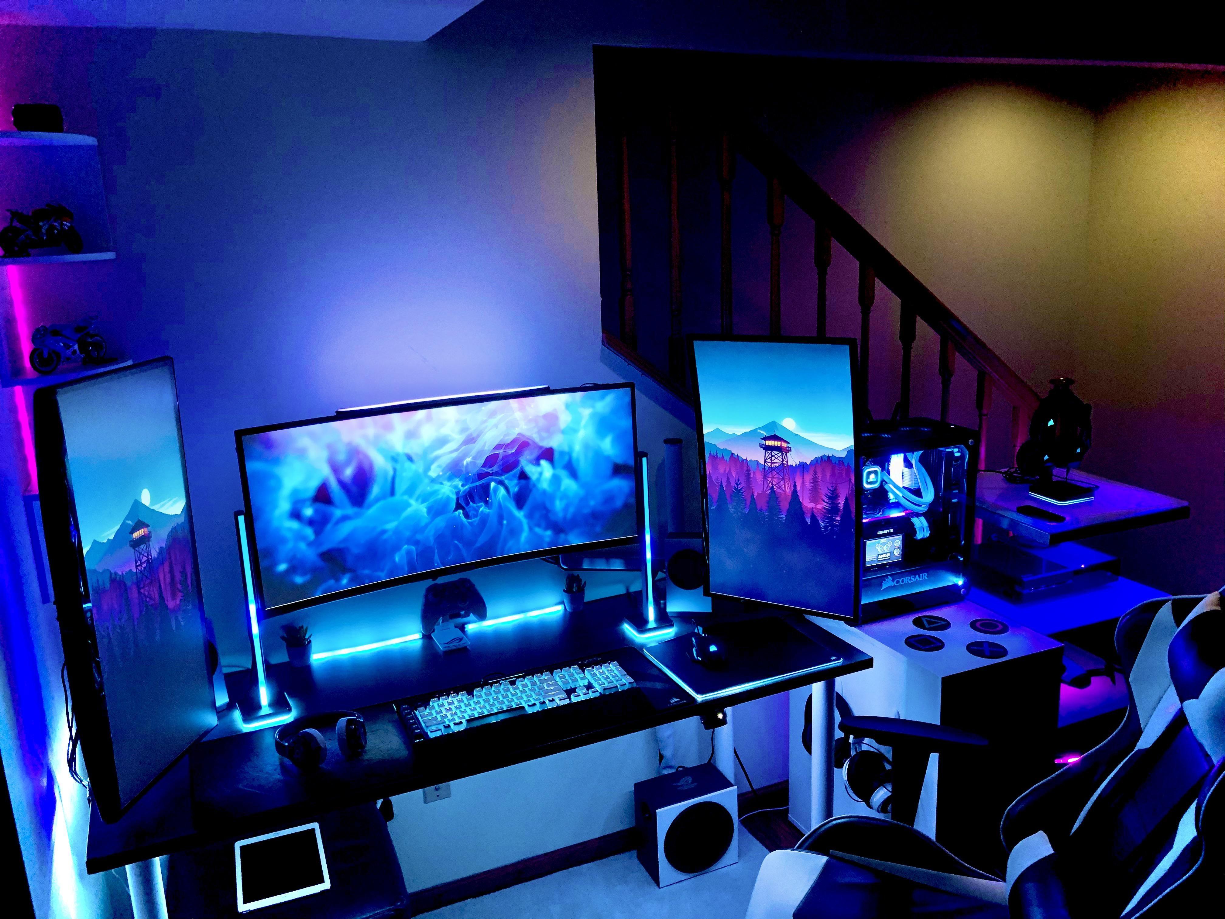 Gaming Room Setup Computer