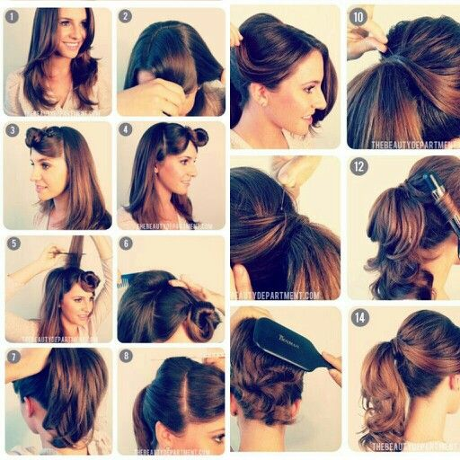 Pin By Laura Pledger On Beauty Hair Styles Vintage Ponytail Hair