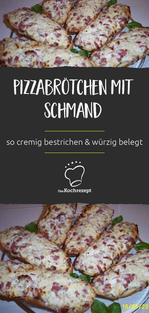Pizzabrötchen mit Schmand #fingerfoodrezepteschnelleinfach