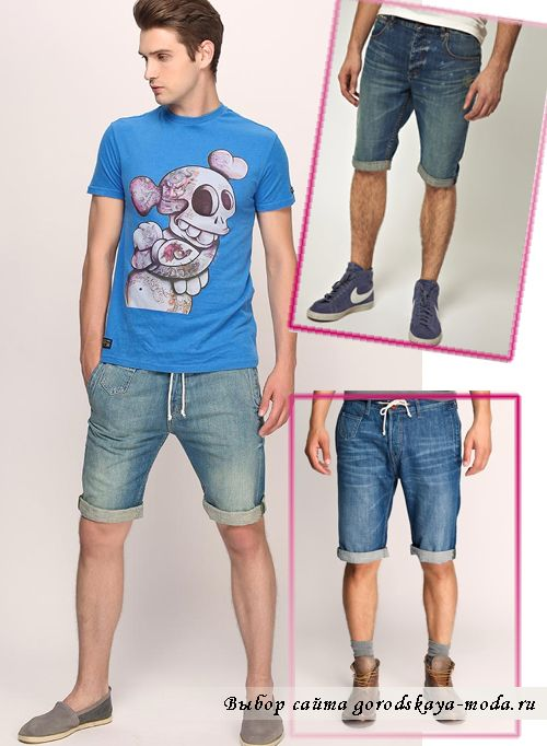 современная модная джинсовая мужская одежда фото