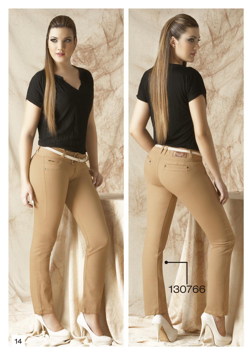 Pantalon De Drill Bota Tubo Color Cafe Ropa Ropa De Moda Pantalones De Moda