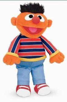 ab32a85c6cd Gund 075365 Sesame Street Ernie with Organza Pull String Bag