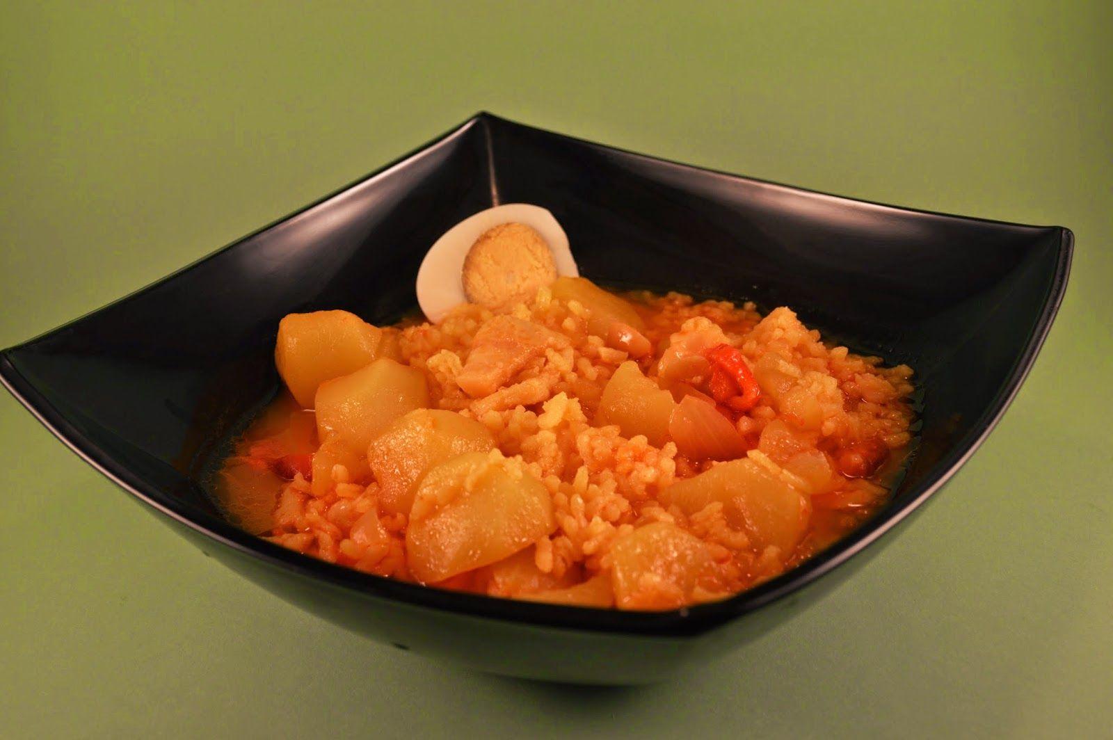 Guiso de Bacalao, patatas y arroz