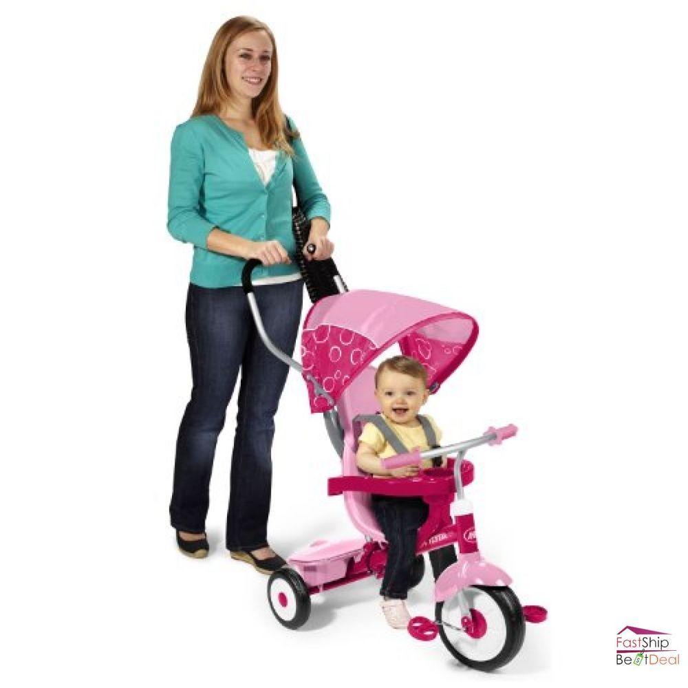 Radio Flyer Tricycle 4 in 1 Trike Pink Kid Toddler Bike