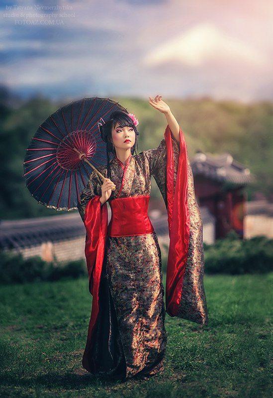 Japanese kimono anime kimono butterfly kimono by
