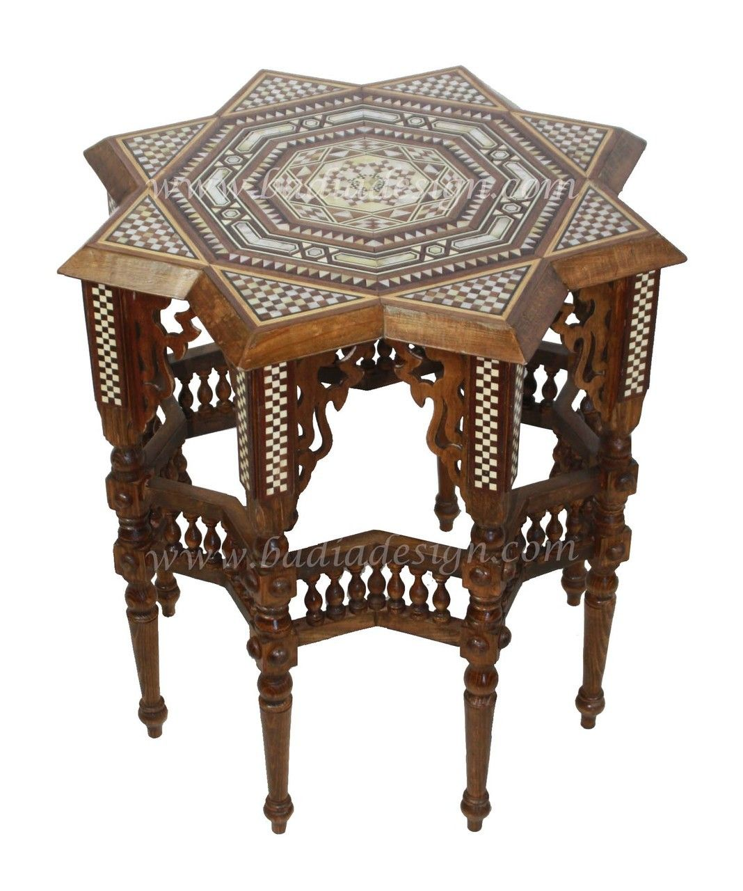 Star Shaped Syrian Style Coffee Table Mop St062 Upscale Living