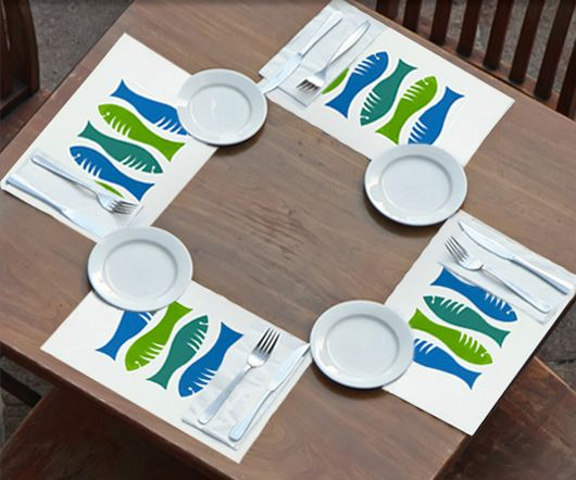 Start with a simple design to create screen printed placemats that are fun to make and use. http://www.dickblick.com/ProjectIdeas/Screen-Printed-Place-Mats/