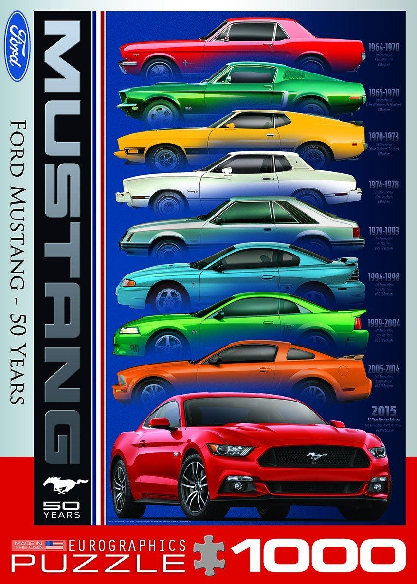 Ford mustang 50 years 1000 piece jigsaw puzzle