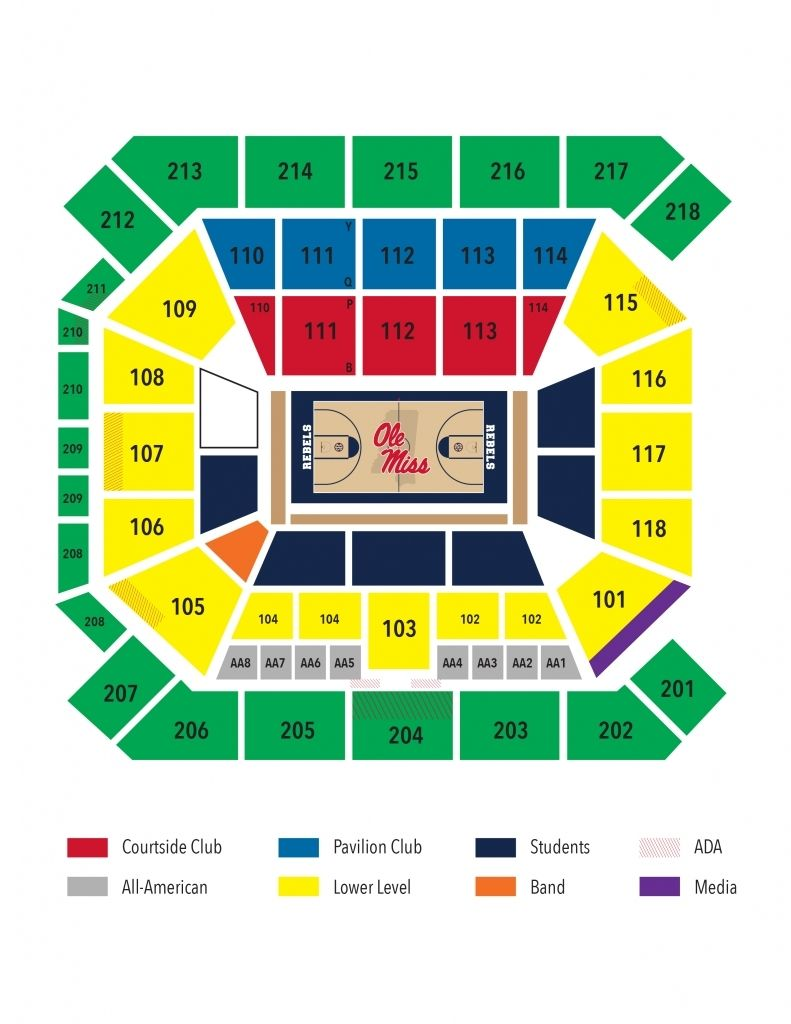 Ole Miss Pavilion Seating Chart Di 2020