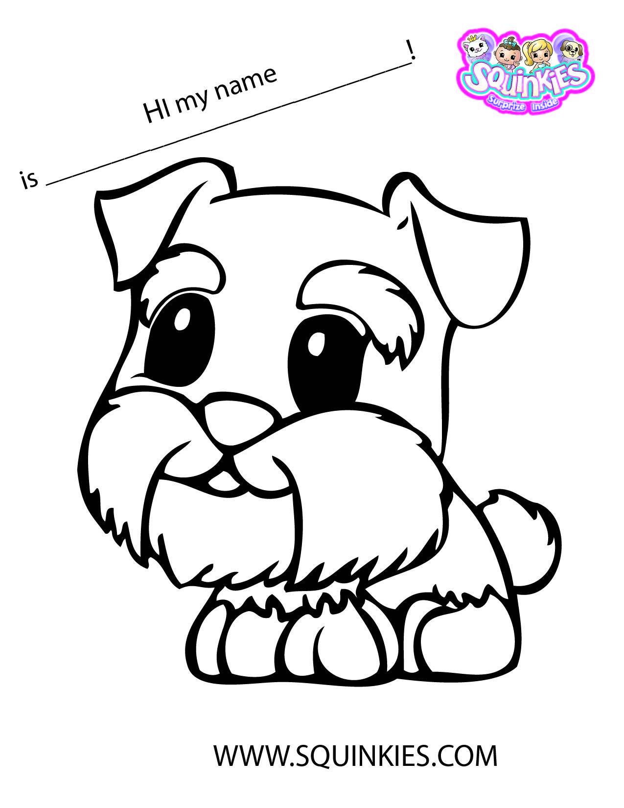 squinkies coloring page - Squinkies Coloring Pages