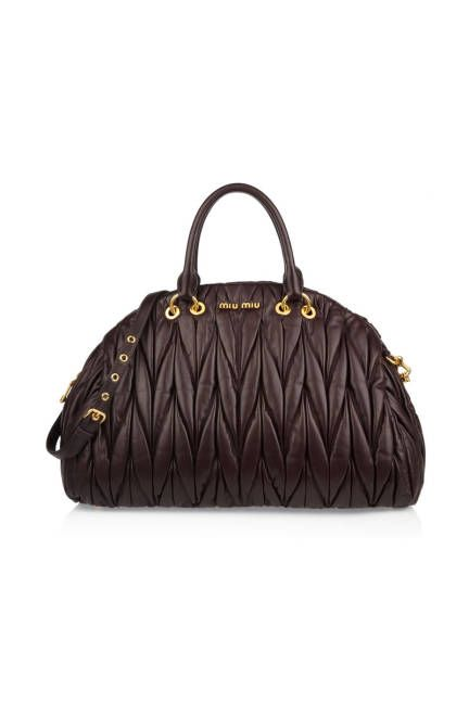 Miu Miu's soft, quilted leather